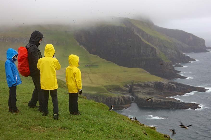 Visiting Mykines island in the rain - Faroe Islands