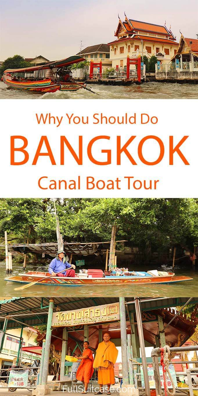 Bangkok canal tour is a great way to get to know a different side of Thailand's capital city