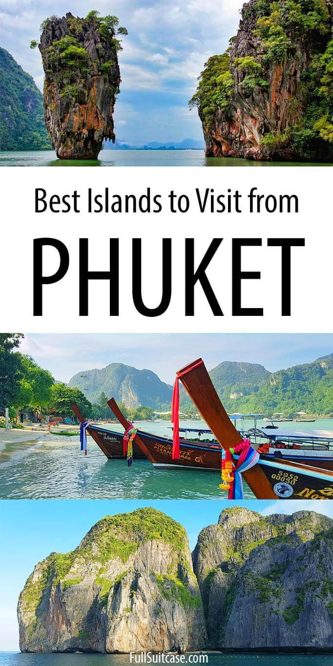 Best day trips and most beautiful islands to visit from Phuket in Thailand