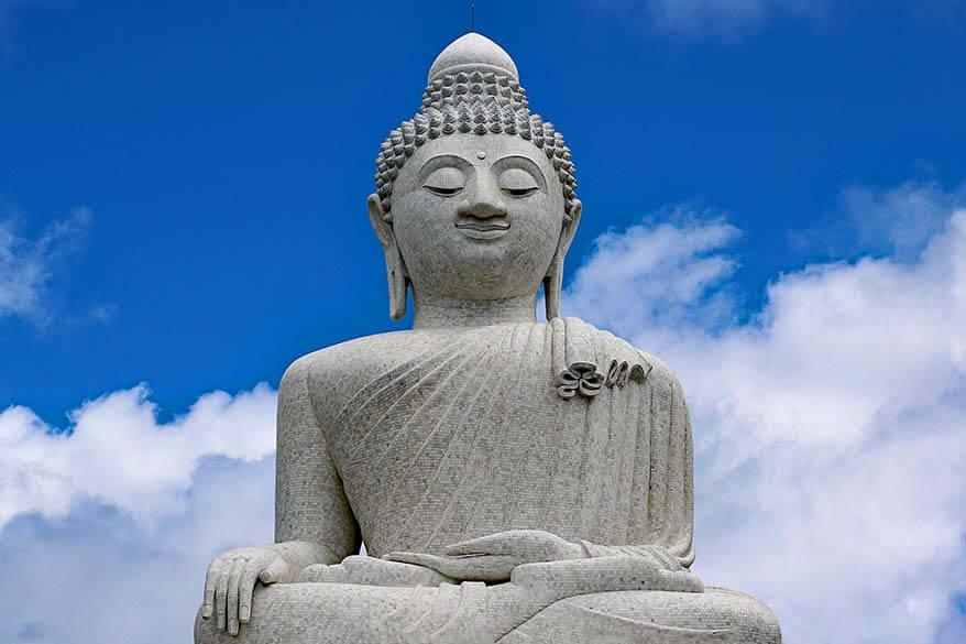 Big Buddha is one of the main landmarks of Phuket, Thailand