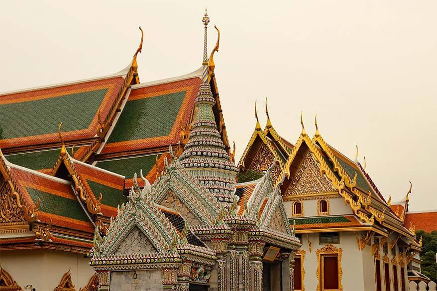 Colorful buildings at the Grand Palace - must see in Bangkok