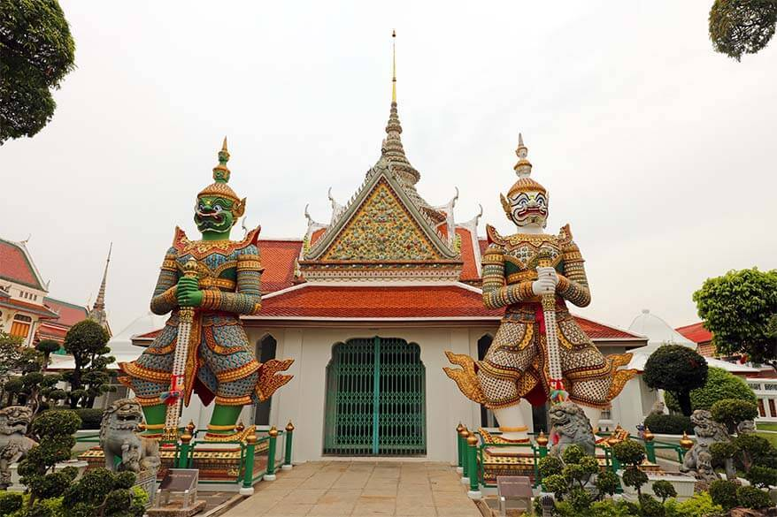 Demon Guardians at the Ordination Hall near Wat Arun in Bangkok