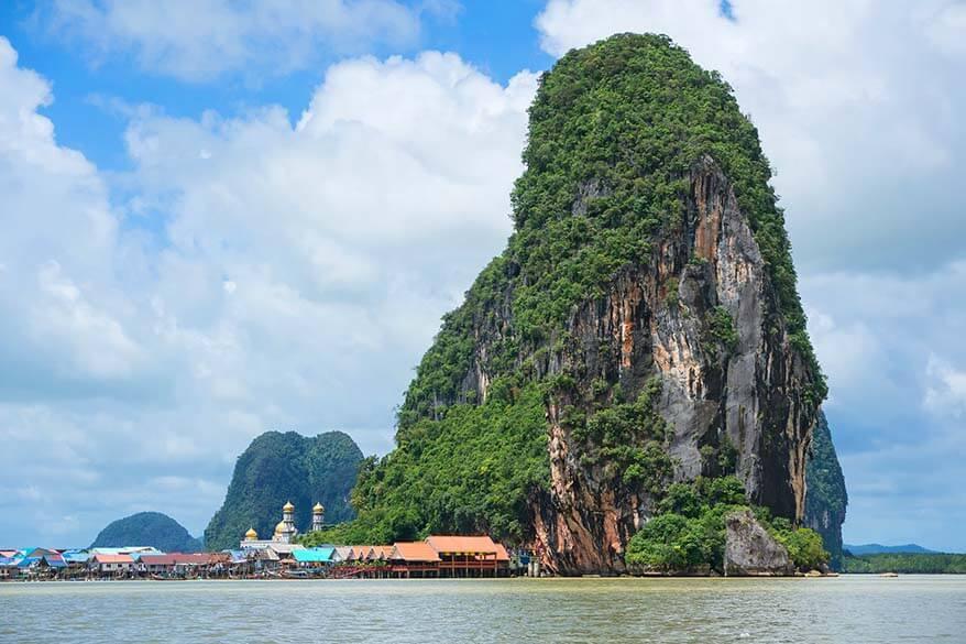 Floating village Koh Panyee in Phang Nga Bay in Thailand