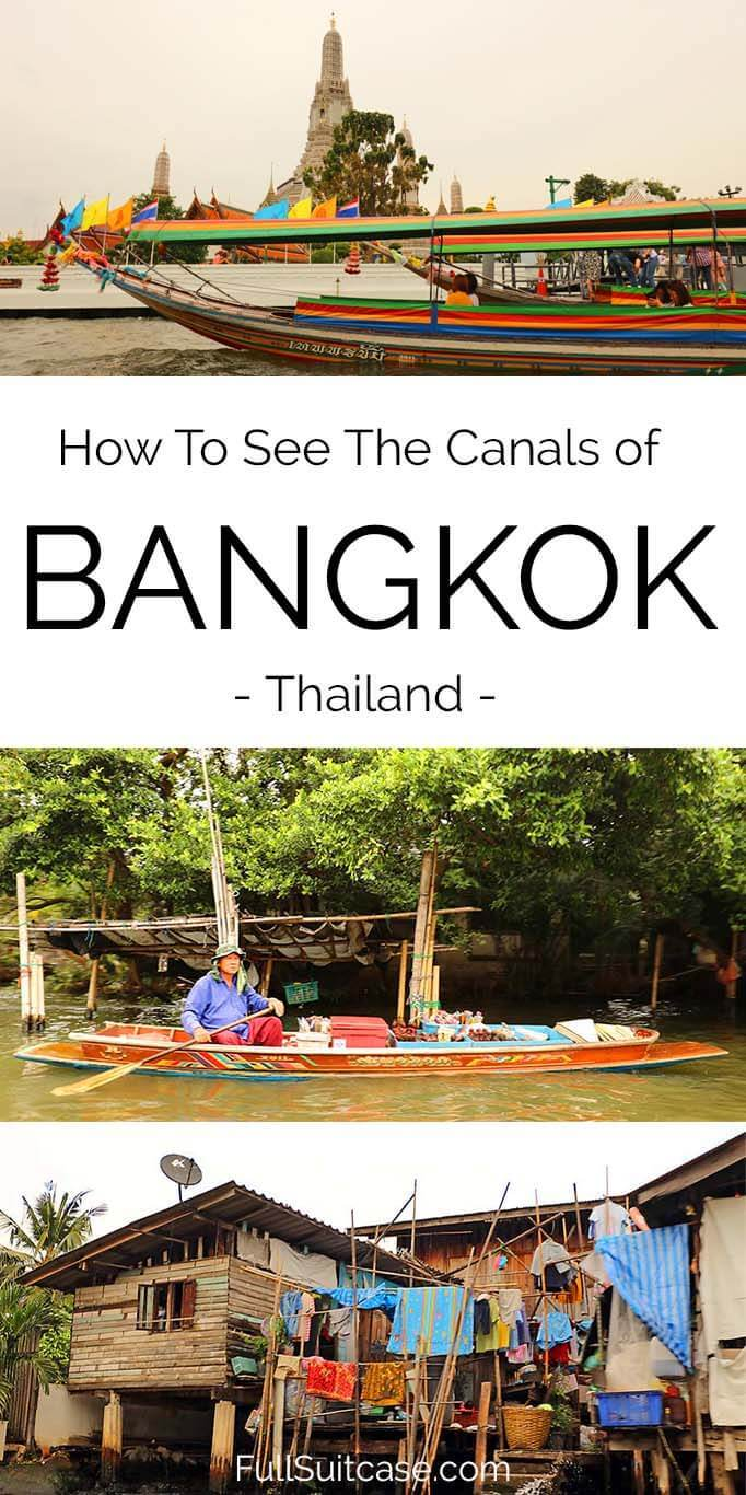 How to see Bangkok canals, Thailand