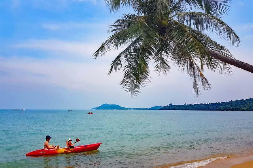 Kayking at the Coconut Island near Phuket Thailand