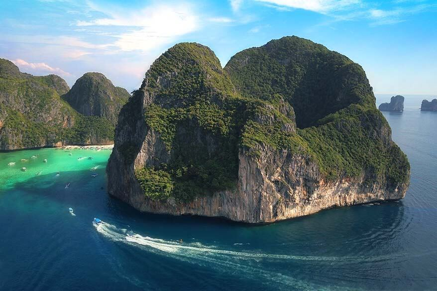 Ko Phi Phi Le is a must see island when island-hopping from Phuket