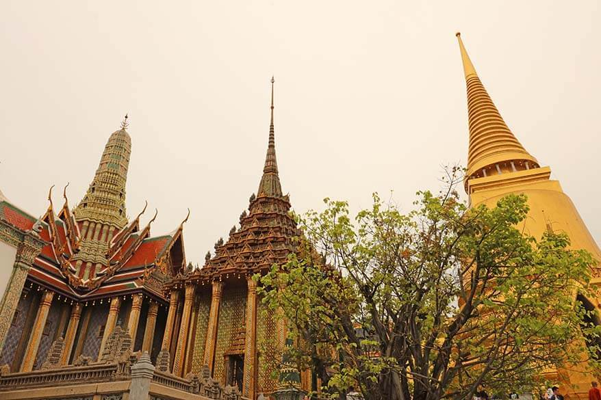 Pagodas of the Grand Palace in Bangkok