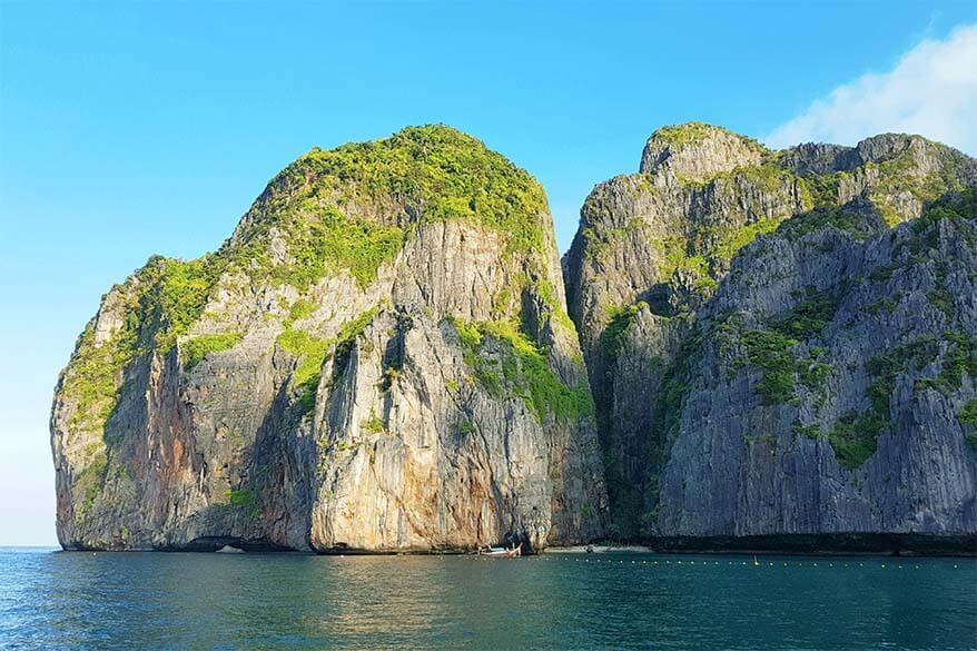 Phi Phi islands at Maya Bay in Thailand