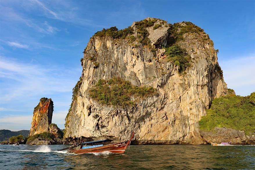 Stunning coastline near Railay Beach next Ao Nang in Krabi - a must in any Thailand island hopping itinerary