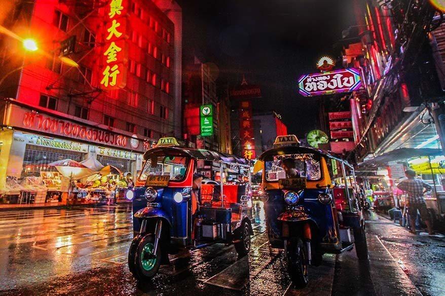 Tuk tuk taxi in Bangkok Thailand