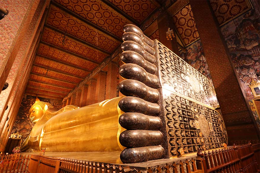 Wat Pho, the Temple of the Reclining Buddha, is must see even if you have just one day in Bangkok