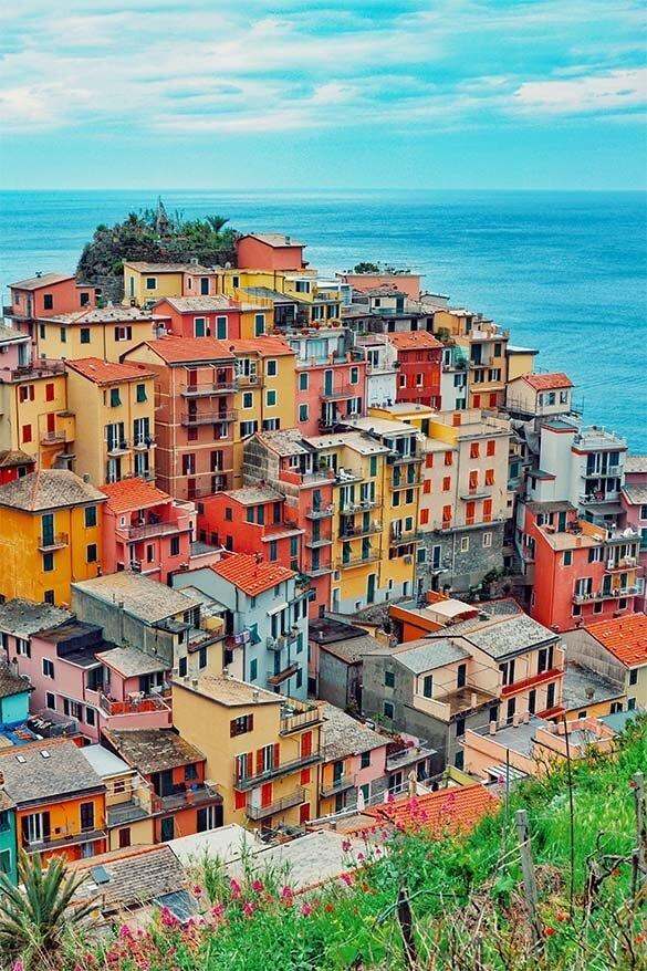Colorful Manarola village in Cinque Terre Italy