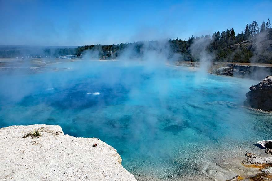 Excelsior Geyser at Midway Geyser Basin in Yellowstone National Park