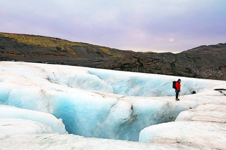 Glacier hiking can be easily incorporated in a 4 day Iceland itinerary