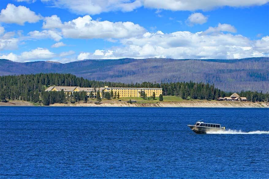Historic Yellowstone Lake Hotel and a scenic boat tour on the Yellowstone Lake