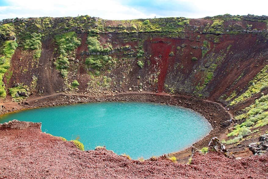 Kerid Crater is one of the lesser known places along the Golden Circle in Iceland