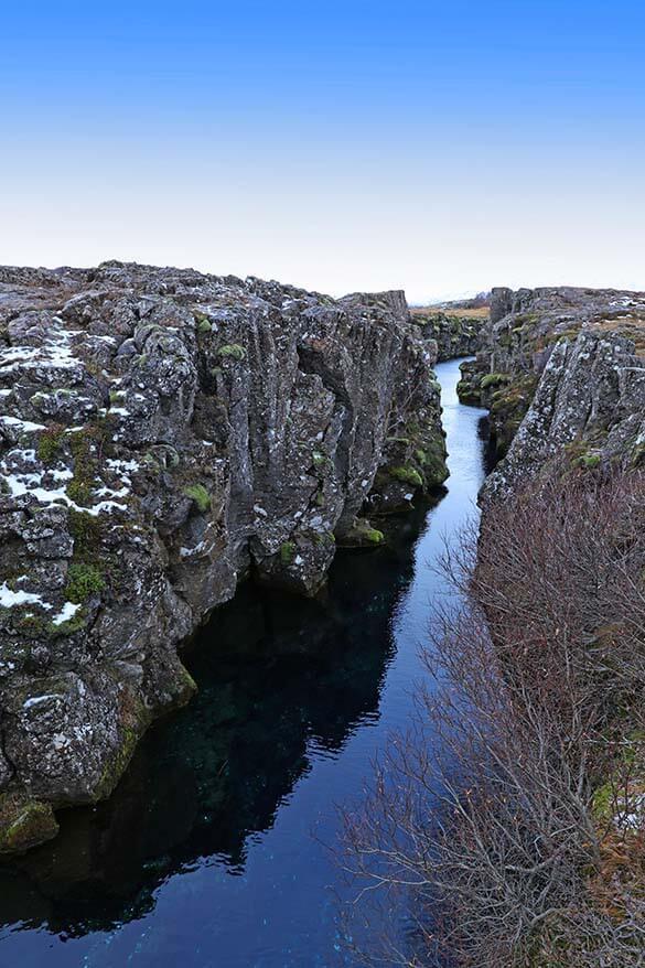 Nikulasargja Gorge or Peningagja in Thingvellir NP Iceland