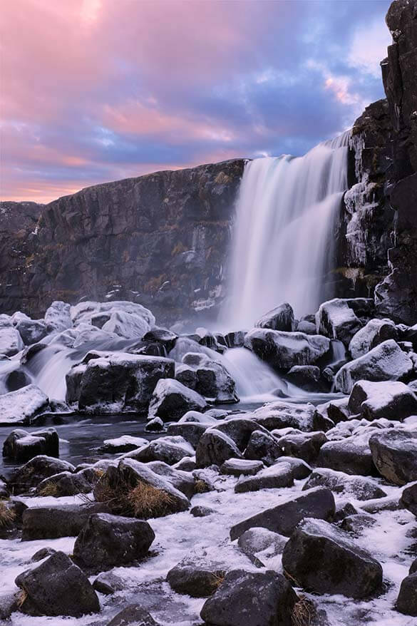Oxararfoss along the Golden Circle - a must in any Iceland itinerary
