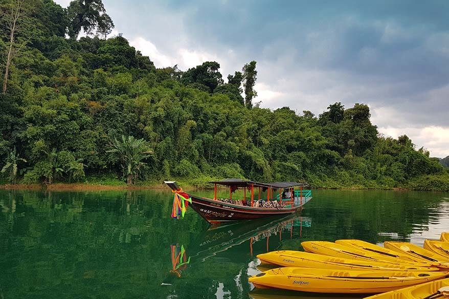 Rainforest floating camp in Khao Sok NP, Thailand, can be only reached by boat