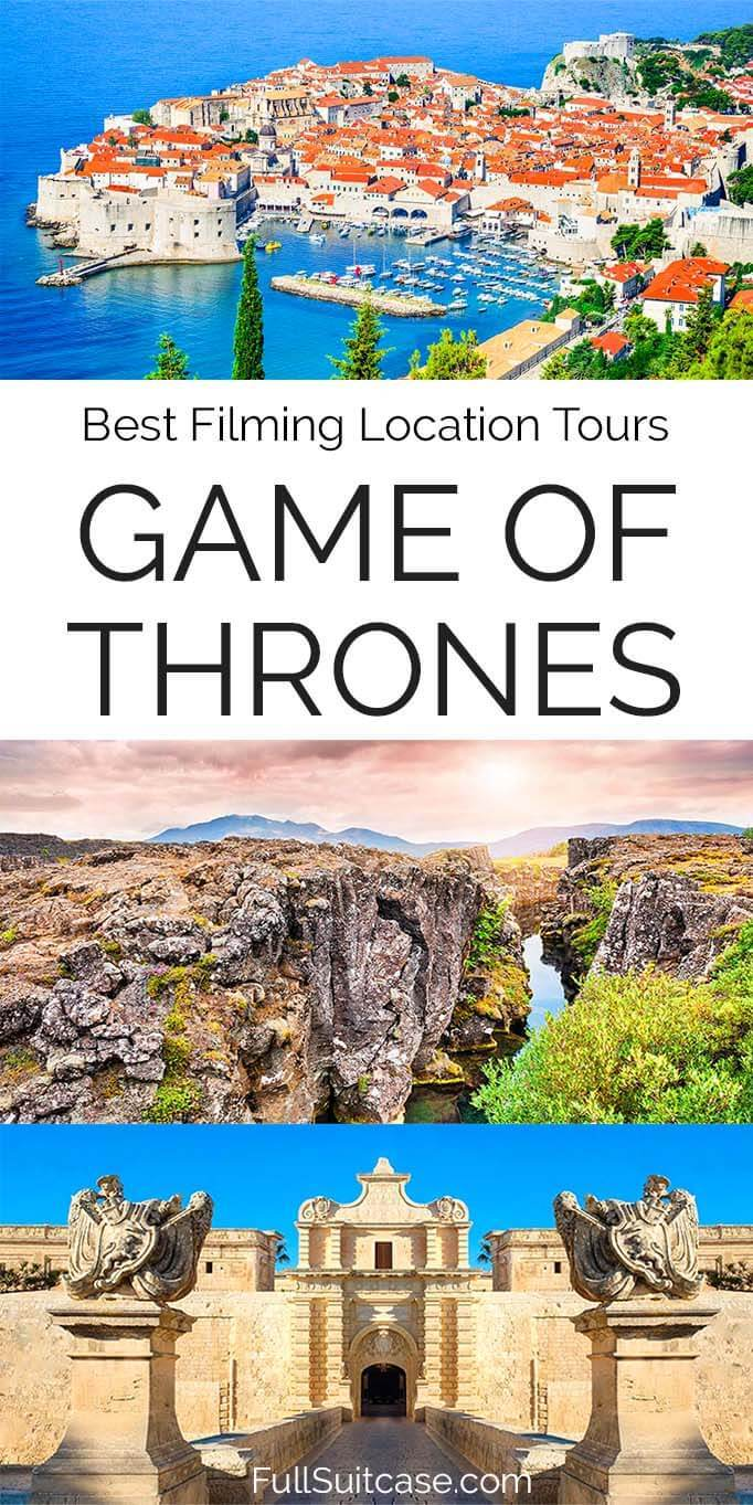 Selection of the best authentic Game of Thrones tours