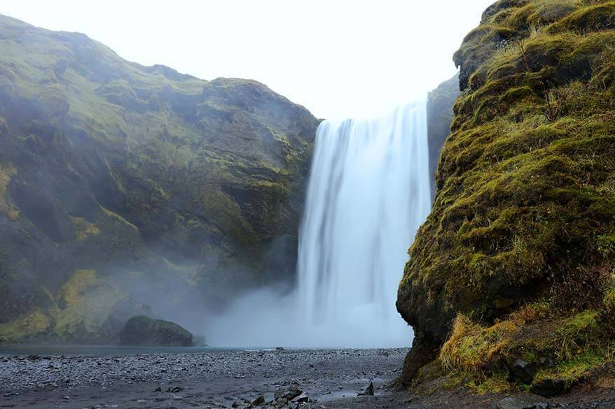 Skogafoss waterfall is must see on any trip to Iceland