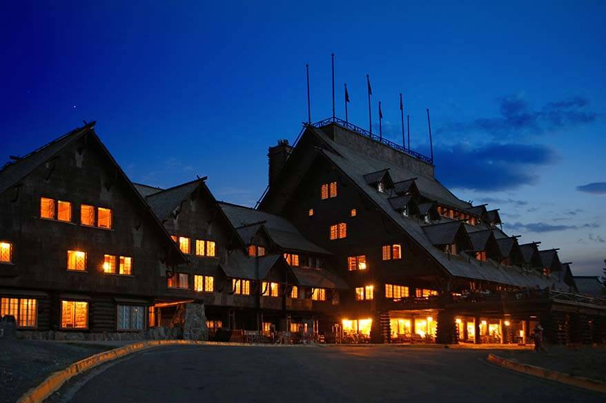 The Old Faithful Inn is one of the historic landmarks of Yellowstone