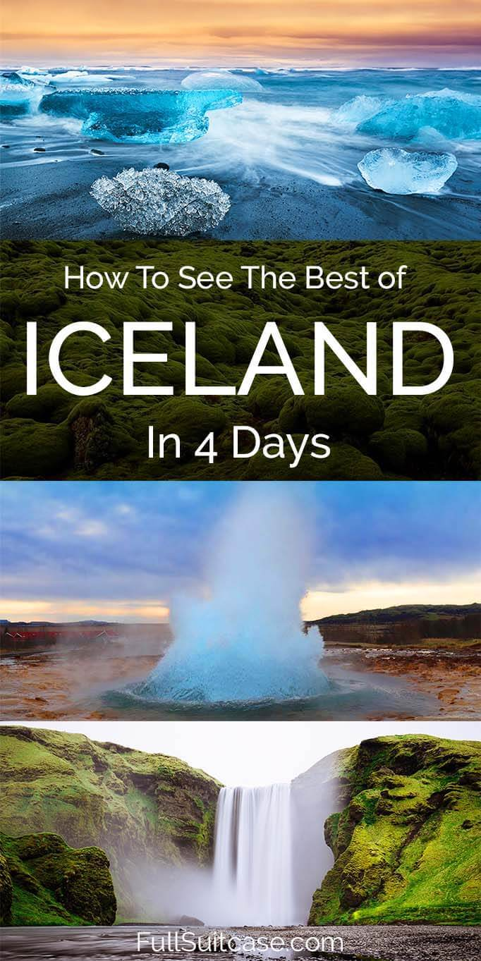 Ultimate Iceland four days itinerary for a self drive trip