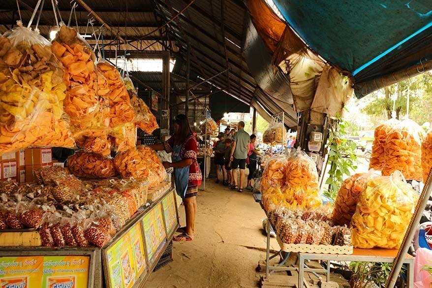 Visiting a local market in Takhun, Khao Sok, Thailand