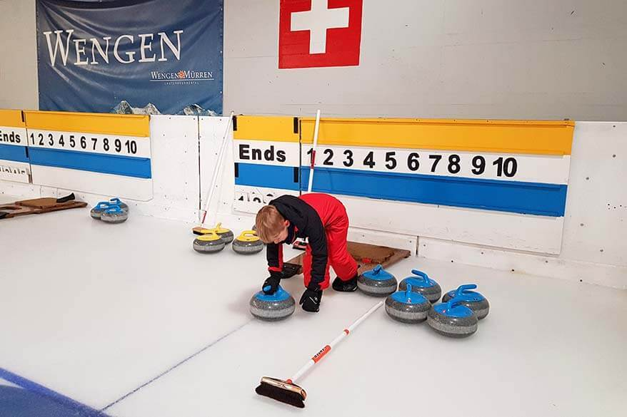 Curling is just one of the many things to do in Wengen in winter - Jungfrau Region, Switzerland