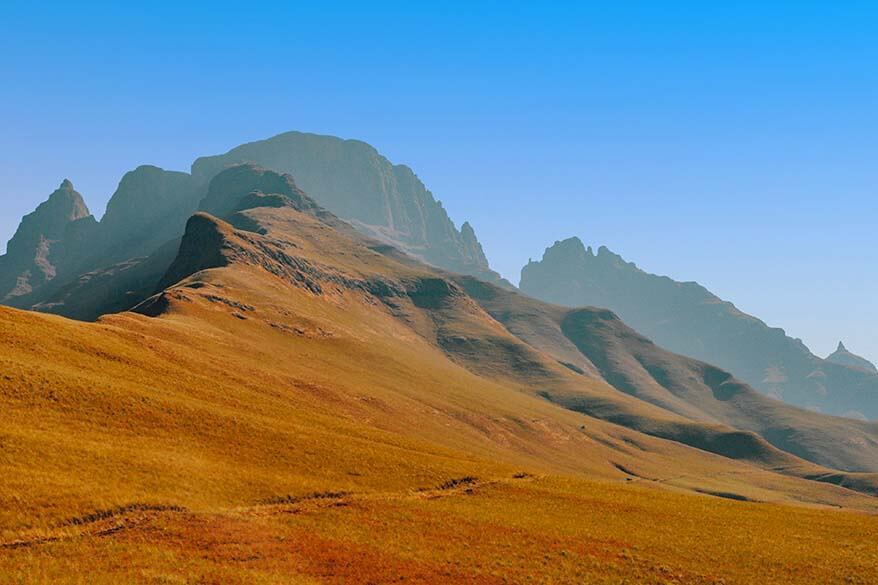 Drakensberg mountain range is one of the most beautiful regions in South Africa