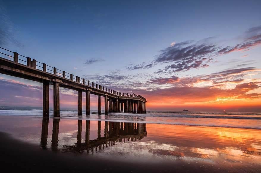 Durban UShaka Pier in South Africa