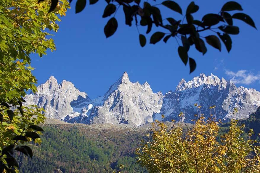 Mountain scenery near Chamonix - a perfect day trip from Geneva Switzerland