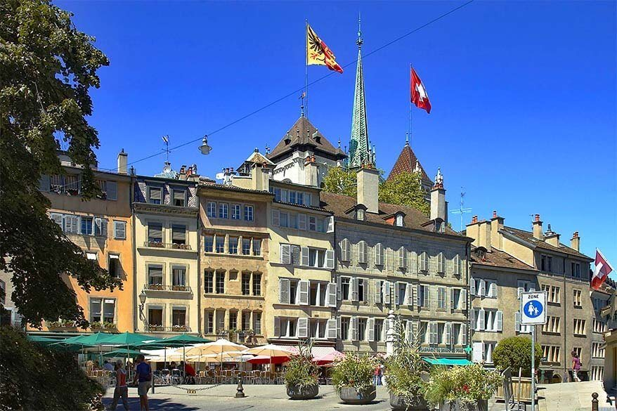 Places to see in Geneva - Bourg-de-Four Square
