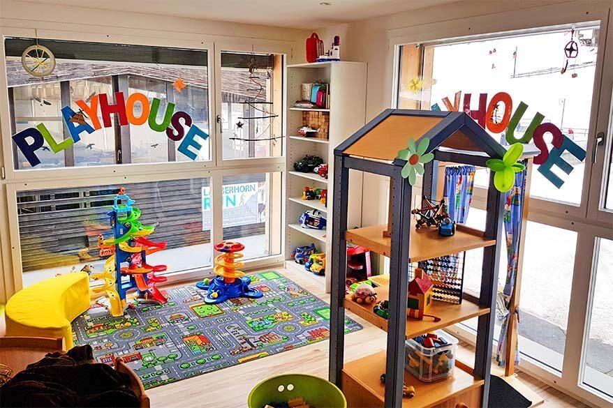 Playhouse children's daycare center in Wengen Switzerland is open during the entire winter season
