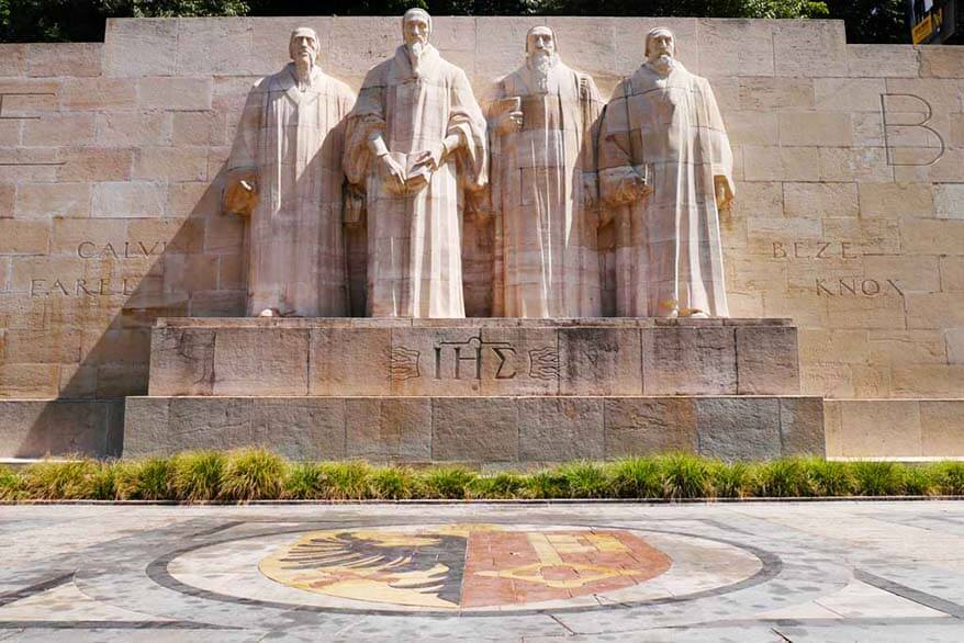 Reformation Wall is one of the places to visit in Geneva