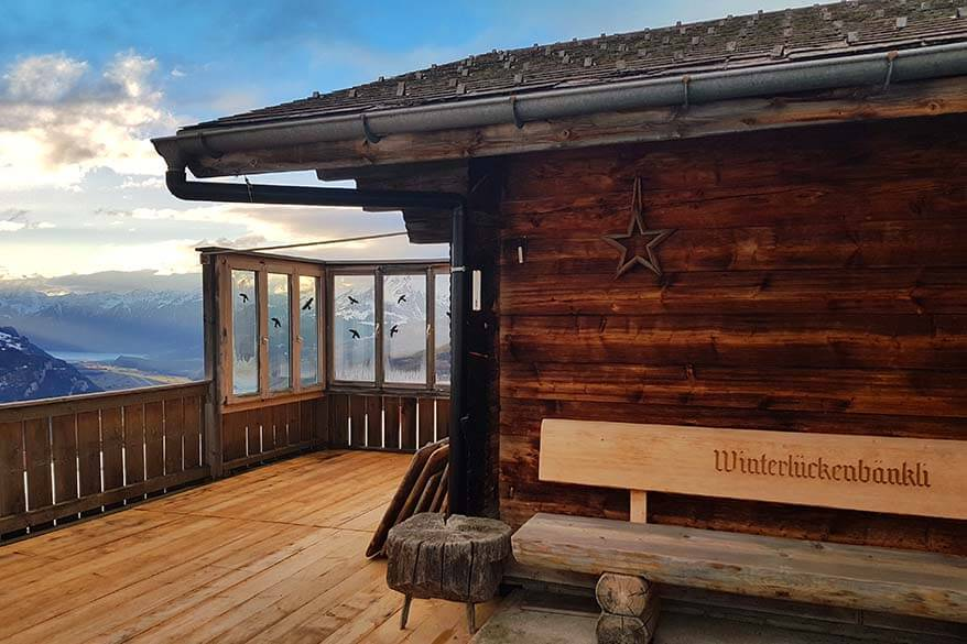 Winterlucke mountain hut in Haslital Switzerland