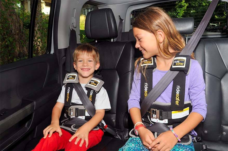 Ride Safer Delight Travel Vest is a lightweight alternative to children's travel booster seats