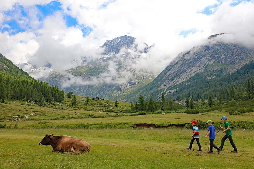 Family-friendly hike at Val di Fumo in Trentino Italy