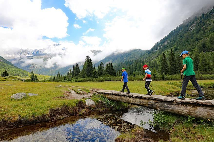 Hiking in Val di Fumo is like walking in the most beautiful painting - it's one of the most beautiful hikes in Trentino Italy