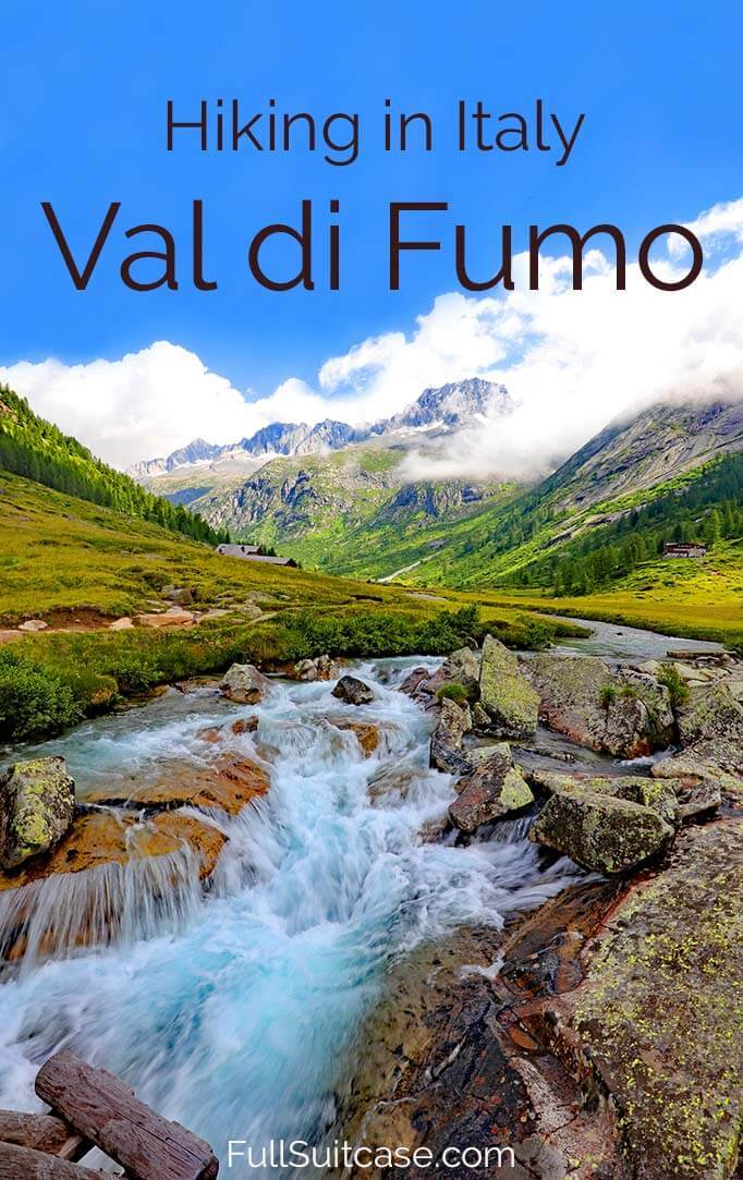 Hiking to Rifugio Val di Fumo - one of the best hikes of Trentino region in Italy