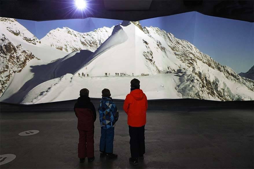 Jungfrau Panorama 360° cinema experience at Jungfraujoch Top of Europe