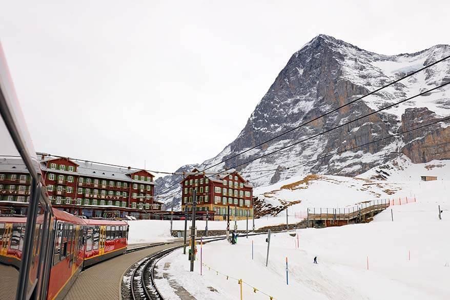 Jungfrau Railway to Jungfraujoch starts at Kleine Scheidegg in Switzerland