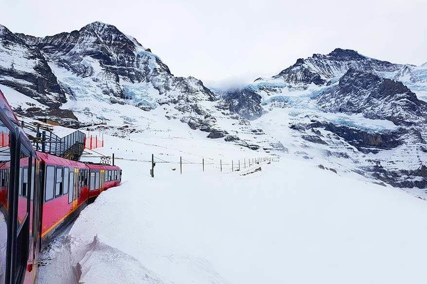 Jungfraujoch Top of Europe in Switzerland - travel inspiration and practical tips for your visit