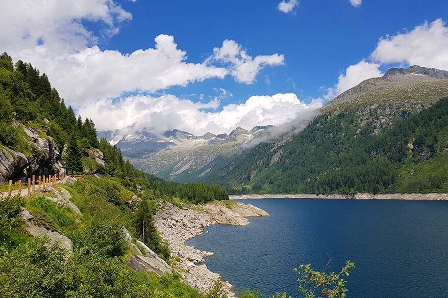 Lago di Malga Bissina along Val di Fumo hike - one of the best hikes in Trentino region in Italy