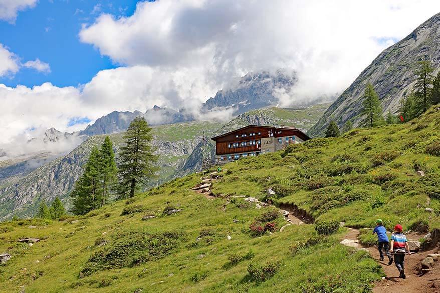 Rifugio Val di Fumo - Shelter of the Valley of Smoke in Trentino Italy