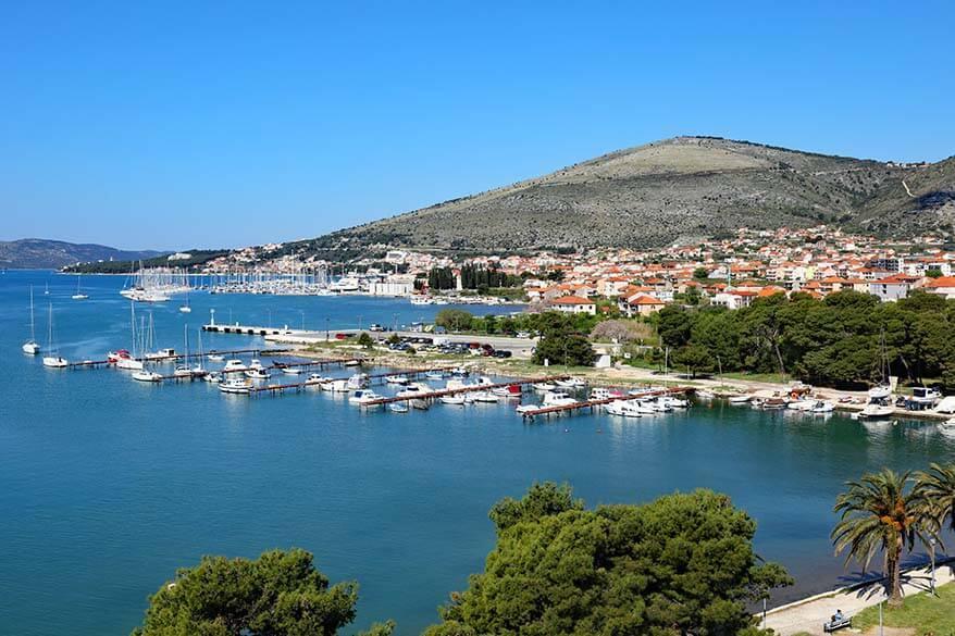 Beautiful coastline near Trogir in Croatia
