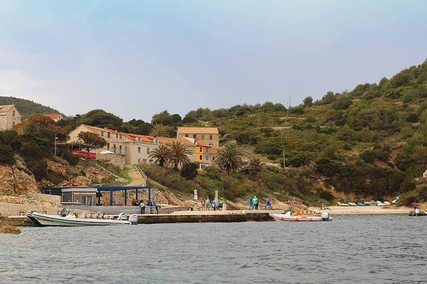 Bisevo island in Croatia where Blue Cave is located