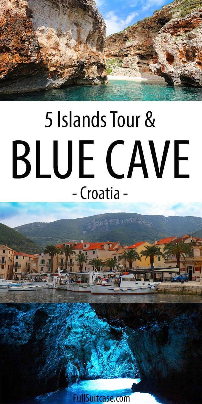 Blue Cave, Hvar, and 5 Islands tour from Split in Croatia