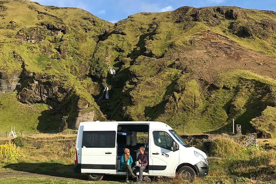 Camping in Iceland in a campervan