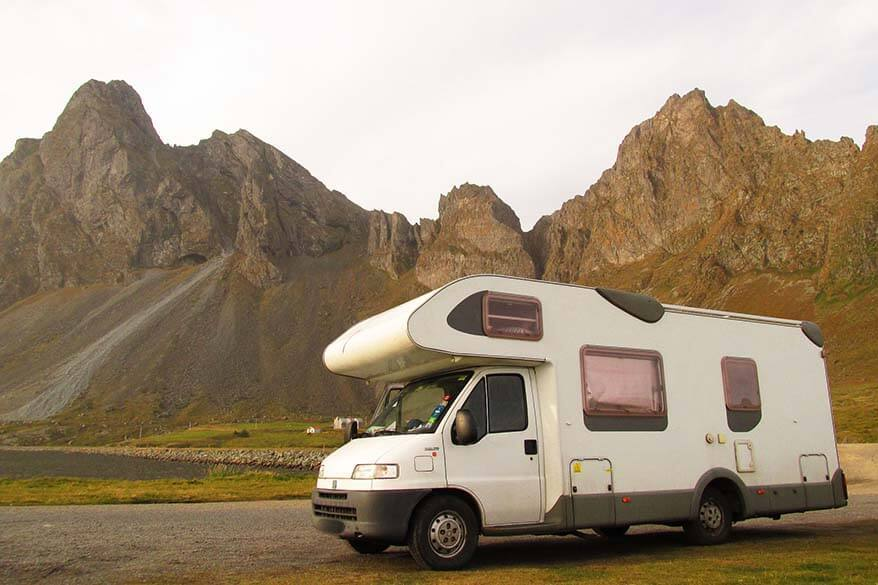 Camping in Iceland with a motorhome